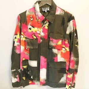 Pam & Gela Floral Field Utility Jacket Size S